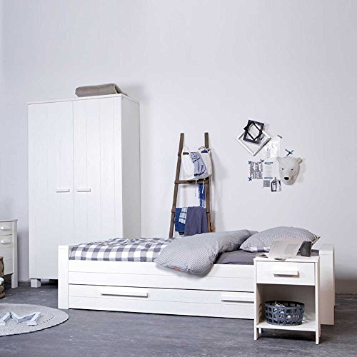 Pharao24 Bett in Weiß Bettkasten Bettkasten Ja