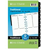 """Day-Timer 2020 Daily Planner Refill, 5-1/2"""" x 8-1/2', Desk Size 4, One Page Per Day, Loose Leaf, Traditional..."""