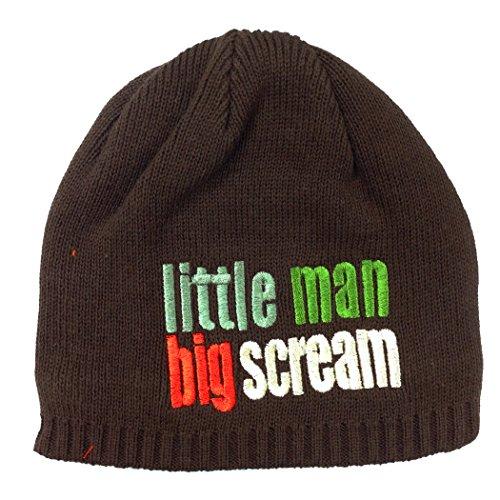 Hiver chaud côtelé Bonnet Garçon Fille Bonnet d'hiver en tricot pour enfants bébé garçon Chapeau Taille Gamme nouveau-né – 3 ans - Marron -