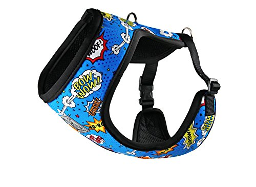 RC Pet Products Cirque Soft Walking Dog Harness, Large, Comic Sounds