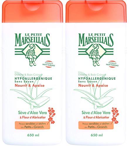 Le Petit Marseillais doccia e vasca ipoallergenico Aloe Albicocca Blossom 650 ml - Set di 2