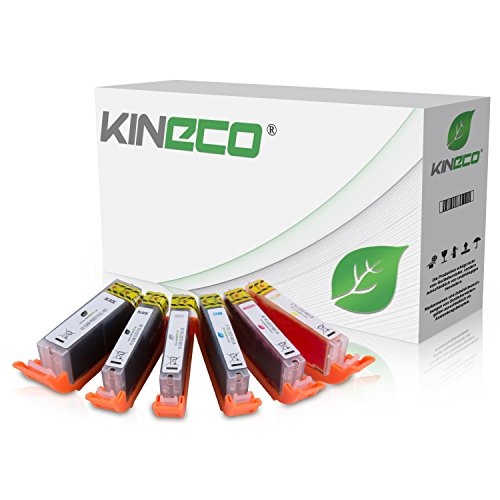 Kineco kompatibel zu Canon PGI-570 XL CLI 571 XL Druckerpatronen [6] für Canon Pixma MG7750 MG7751 MG7752 MG7753 TS8050 TS8051 TS8052 TS8053 TS9050 TS9055