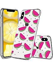 KOUYI Funda Compatible/Reemplazo para iPhone XS/iPhone X TPU Protectora Carcasas Suave Delgada Protective [Transparente] Piel de Gel Suave Cubierta (Sandía)