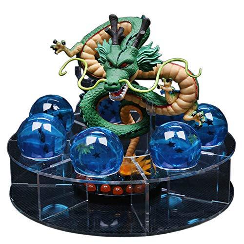 NEBAISEN Action Shenlong Shenron Figures Set 1pcs 15cm Dragon+7pcs 3.5cm Balls+1pcs Shelf for Birthday Holiday