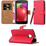 Motorola Moto E4 Case, Leather Wallet Book Case Cover Pouch