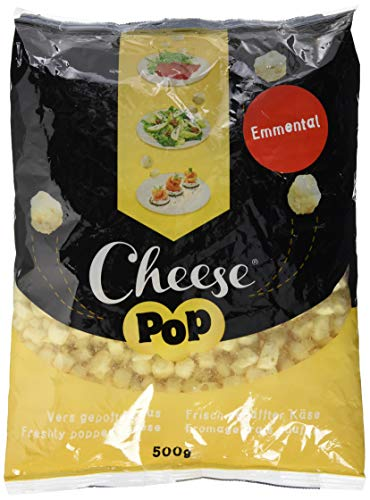 Cheesepop Emmental, 100% gepuffter Käse. überraschend knusprig & luftig!, 1er Pack (1 x 500 g), 124