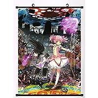 アニメ魔法少女まどか壁ポスタースクロール防水リール家の装飾 19.7x29.5inch/50x75cm