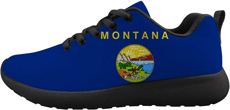 Oaheson Cushioneng Cushioneng Cushioneng Sneeaker Trail springaning skor herr kvinnor Montana Flag  varumärke på försäljningsbevis