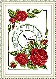 Corona de reloj rosa kit de punto de cruz 14ct 11ct cuenta i