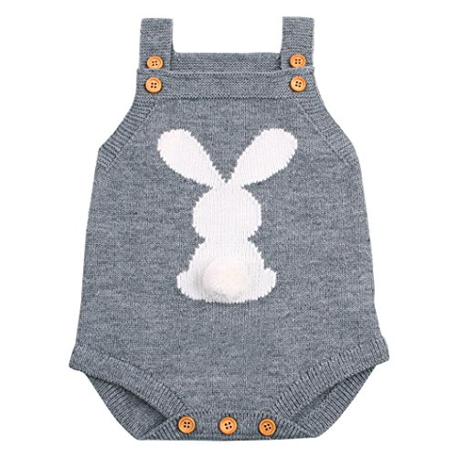 Vestido de niña BBsmileRecién Nacido bebé niño niña Weave Romper Knitted Trajes...