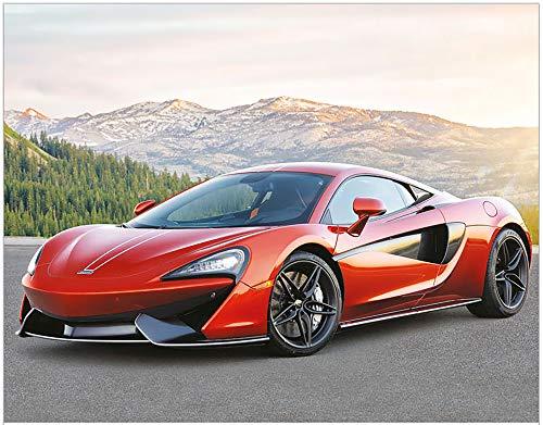 """Simply Calendar""""Exotic Cars"""" 2020 Lightweight Wall Calendar - 10.5"""" x 18"""" (Open)"""
