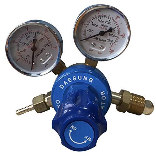 GFCGFGDRG Druckminderer für Sauerstoff Messingdoppelmesser Druckregler Schweißen Schneiden Gas-Durchflussmesser Reduzierung Guage Werkzeuge