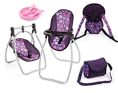 Bayer Design- Silla Alta, Kit de Accesorios 9 en 1, Color Lila (63694AB)