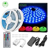 MINGER LED Strip Lights Kit, 32.8ft 5050 RGB 300led Strips Lighting Flexible Color Changing Rope...