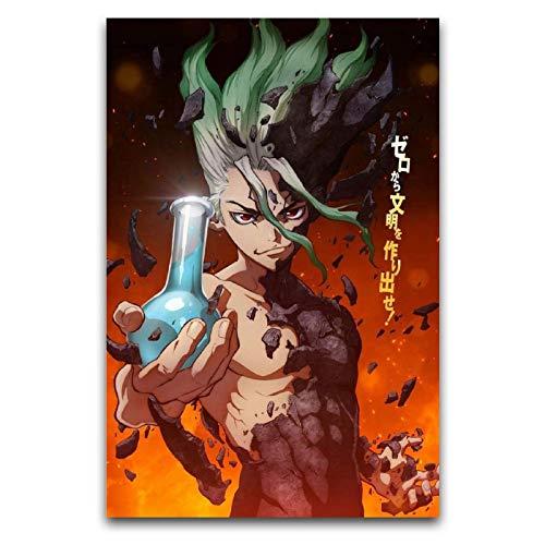 WPQL Póster e impresiones del Dr. Stone Anime de 30 x 45 cm.