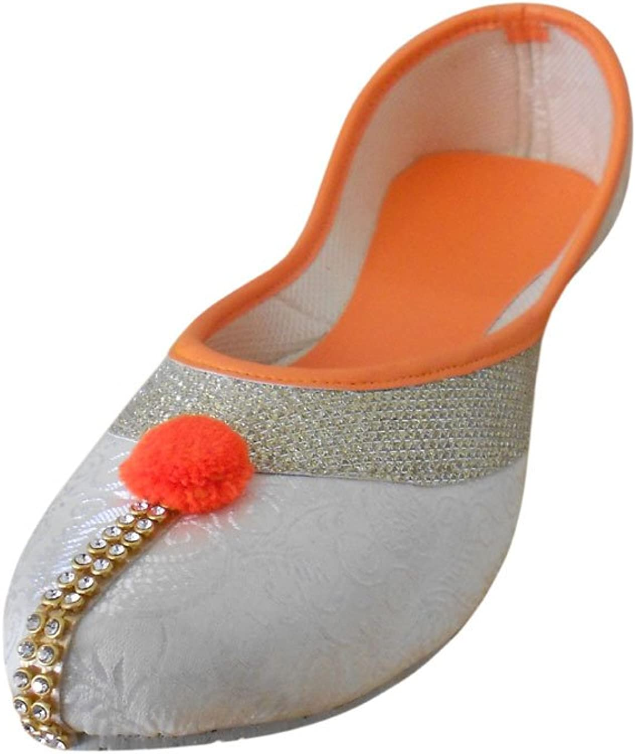 Kalra Creations Women's Traditional Synthetic with Sequence Work Ethnic shoes