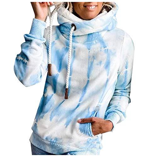 Deman Kapuzenpullover Hoodie Sweatshirts Langarm Hoodies Pullover Mode Tie-Dye Print Langarm Tasche Loose Sweatshirt Hoodie Pullover Top