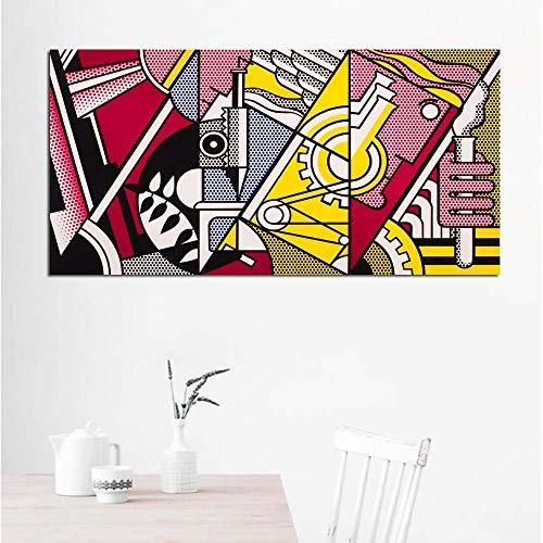 ART Roy Lichtenstein Abstracte Posters Pop Art Canvas schilderij Wall Art Pictures voor woonkamer Groot formaat_40x80cm