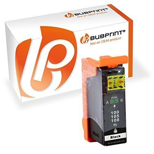 Bubprint Druckerpatrone kompatibel für Lexmark 100XL für Interact S605 Interpret S405 S505 Pinnacle Pro 901 Platinum Pro 905 Prestige Pro 805 Schwarz