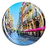Weekino Logrono españa Imán de Nevera 3D de Cristal de Turismo de la Ciudad de Viaje Recuerdo de la Colección de Regalo Fuerte Etiqueta Engomada del refrigerador