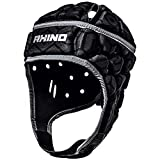 Rhino Pro Rugby Casque de Rugby Senior Noir Taille M