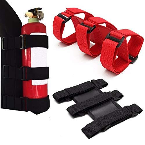 Roll Bar Fire Extinguisher Car Trunk Holder for Jeep Wrangler Nylon Tj Yj Jk Cj (Black)