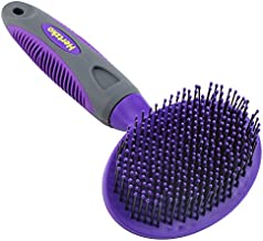 Soft Pet Brush by Hertzko - For Dogs and Cats – for Detangling and Removing Loose Undercoat or Shed Fur for large and small animals – Ideal for Everyday Brushing Long and Short Hair for Sensitive Skin