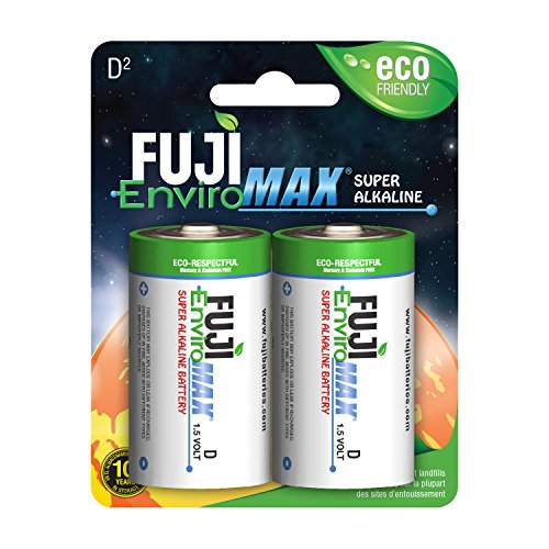 Fuji EnviroMAX Super Alkaline D Cell Eco Friendly Batteries (Pack of 12)