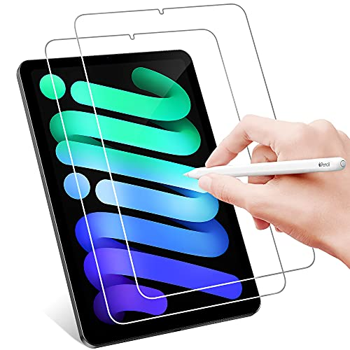 IVSOTEC Protector Pantalla para iPad mini 6 2021 8.3 Pulgadas, Cristal Templado Dureza 9H Anti-rasguños Protector Pantalla para iPad mini 6 2021,2 Piezas