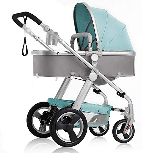 Find Bargain High Landscape Stroller, Can Sit Reclining Fast Folding Four Seasons Baby Stroller Suit...