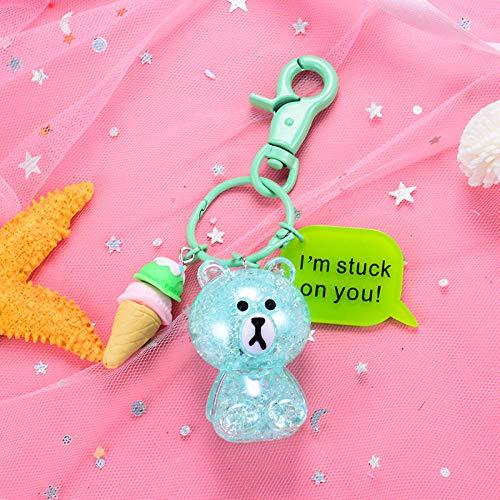 Tas sleutelhanger ketting barst barst beer sleutelhanger cartoon schattig zitten houding schattig beer speelgoed pop sleutelhanger 2 stks Groen