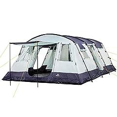 Campe familiale tente XtraL tente pour 6 personnes | grand vestibule, colonne d'eau de 5000 mm | Camping tente de tunnel grande