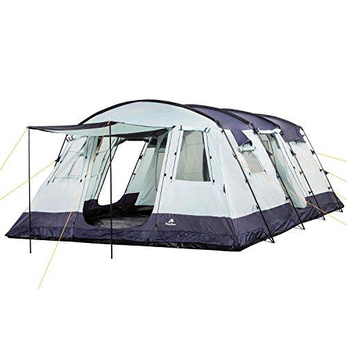 CampFeuer Familienzelt XtraL Zelt für 6 Personen | riesiger Vorraum, 5000 mm Wassersäule | Campingzelt Tunnelzelt groß