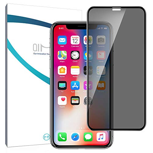 QiMai [2 unidades] Protector de pantalla de cristal blindado antirrotura, compatible con iPhone 11 Pro Max/iPhone XS Max de 6,5 pulgadas, 3D Full Screen Protector de pantalla de vidrio templado