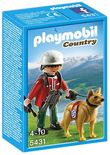 Playmobil Vida en la Montaña - Rescatador de Montaña con Perro, Juguete Educativo, Multicolor, 10 x 5 x 15 cm, (5431)