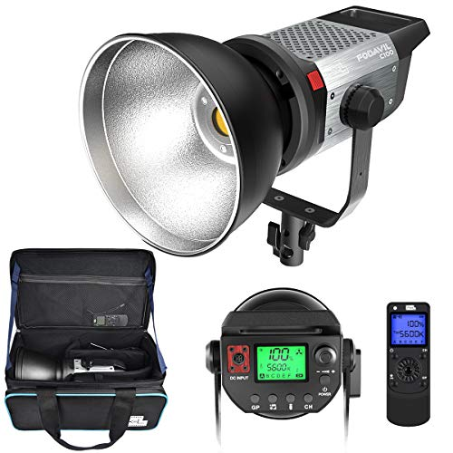 Pixel 120W Continuous Output Lighting - 5600K Daylight Balanced Dimmable LED Video Lamp, Illuminance 0.5M 98000Lux/ Bowens Mount/Remote Control for YouTube Vlog Portrait Photography Lighting Studio