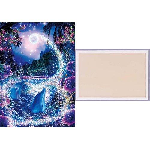 500ピース ジグソーパズル ラッセン ミスティック ワールド 【光るパズル】 (38x53cm) +木製パズルフレーム ウッディーパネルエクセレント シャインホワイト (38x53cm)