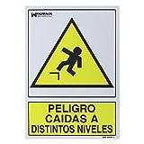 WOLFPACK LINEA PROFESIONAL 15051262 Cartel Peligro Caídas a Distintos Niveles, 30 x 21 cm