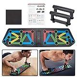aiface 13 en 1 Push up Rack Board, Tabla de Flexiones, Plegable Soportes, Flexiones Equipo de Gimnasia Multifuncional para Entrenamiento Físico Desarrollo Muscular Entrenamiento de Fuerza