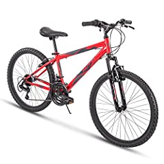 With a gloss red hardtail frame and 21 speeds to conquer the trails, the Huffy Summit Ridge is ready for outdoor adventures An Amazon exclusive: Ideal for ages 12-19 and a rider height of 58-70 inches; durable steel frame is backed by our limited lif...