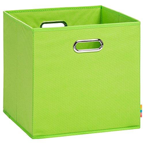 (H&S) Aufbewahrungsbox LEA - Faltbox - Korb - 33x33x33 cm - (Apfelgrün)
