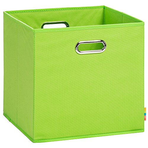 Schmetsdorf (H&S) Aufbewahrungsbox LEA - Faltbox - Korb - 33x33x33 cm - (Apfelgrün)