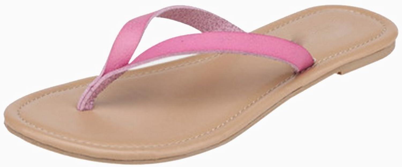 DYFYMX Fashion Casual Beach shoes, Flat Slippers, Non-Slip Home Slippers. Fashion V, Size   EU37 UK4.5-5 CN37