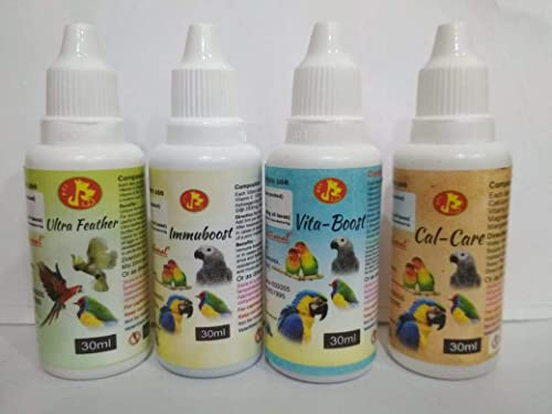 Pet Care International (PCI) Ultra Feather, Immuboost, VitaBoost & Cal Care for Healthy Feathers and Provide Essentia...