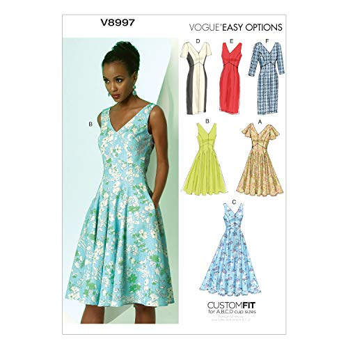 VOGUE PATTERNS V8997 Misses#039 Dress Sewing Template Size A5 68101214