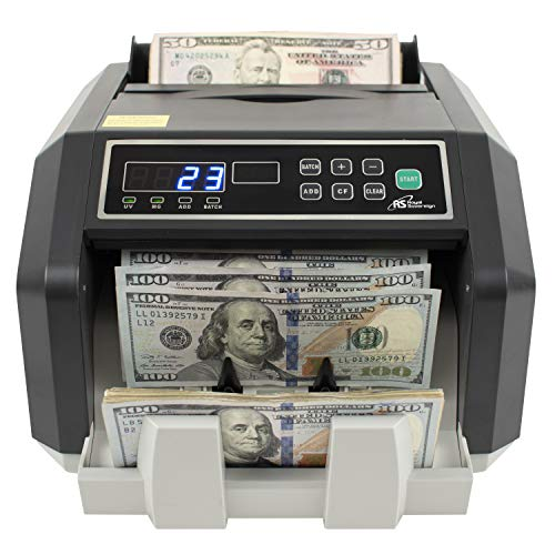 Royal Sovereign Rear Loading High Speed Bill Counter with UV, MG, IR Counterfeit Detector (RBC-ES200)