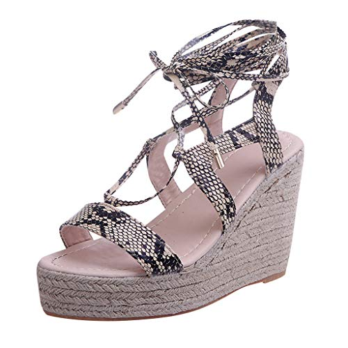 Learn More About KCPer Wedge Espadrilles Women Sandals Hemp Rope Lace Up Platform Sandal Women's Fas...