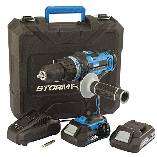 Draper 89523 Stormforce 20V Combi Drill with 2x2.0Ah batteries & charger