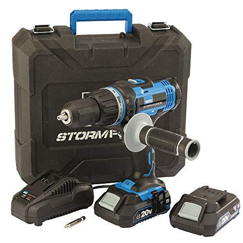 Draper CHD20SF 89523 Stormforce-Broca combinada (20 V, 2 baterías de 2,0 Ah y Cargador)