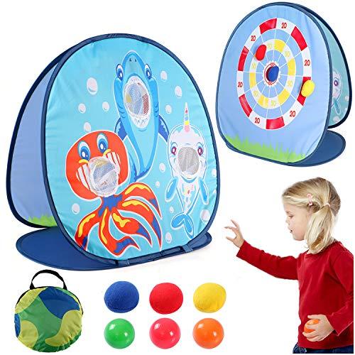 vamei 1 Stück Wurfspiele für Draußen Wurfspiel Kinder Ballspiele für Draußen Gartenspiele Klettballspiel...